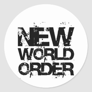 Nuevo orden mundial pegatina redonda