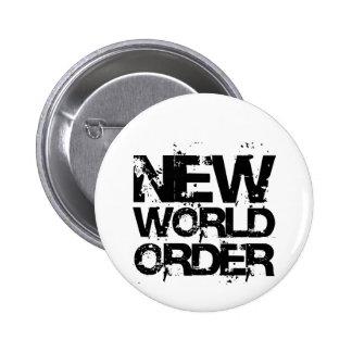 Nuevo orden mundial pin redondo de 2 pulgadas