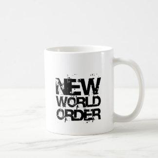 Nuevo orden mundial taza de café