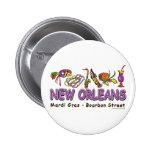 Nuevo-Orleans-Diversión Pin Redondo De 2 Pulgadas