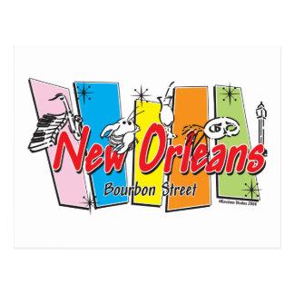 Nuevo-Orleans-Retro Tarjeta Postal