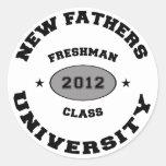 Nuevo padre 2012 pegatina redonda