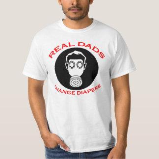 Nuevo padre: Camisetas reales de los pañales del Remera