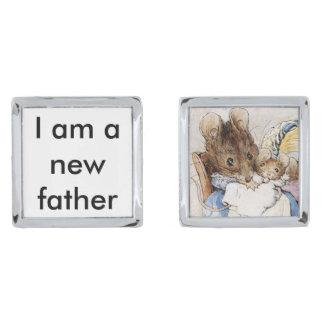 Nuevo padre gemelos plateados