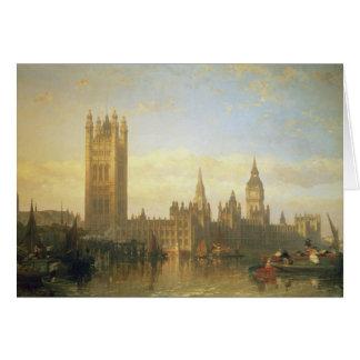 Nuevo palacio de Westminster del río Támesis Felicitación