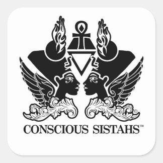 ¡Nuevo! Palillo consciente de Sistahs (TM) Pegatina Cuadrada