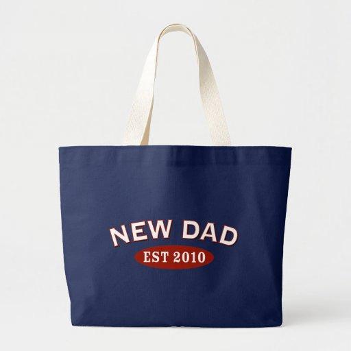 Nuevo papá 2010 bolsa tela grande