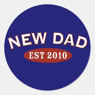 Nuevo papá 2010 pegatina redonda