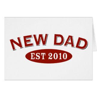 Nuevo papá 2010 tarjeta de felicitación