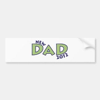 Nuevo papá 2012 pegatina de parachoque
