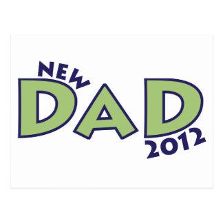 Nuevo papá 2012 postal