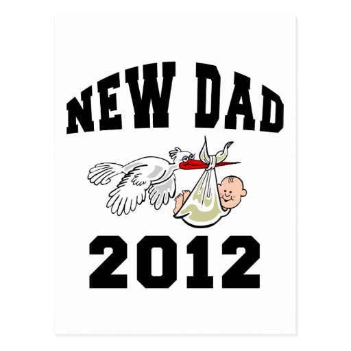 Nuevo papá 2012 tarjetas postales