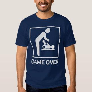 Nuevo papá a ser = juego sobre la camiseta del remera
