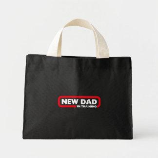Nuevo papá en el entrenamiento - bolso para un bolsa tela pequeña