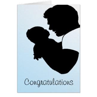 nuevo papá, enhorabuena tarjeta de felicitación