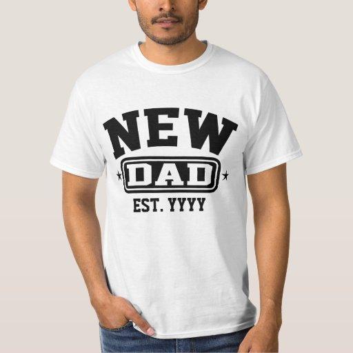 Nuevo papá (Est. Personalizable del año) Playera