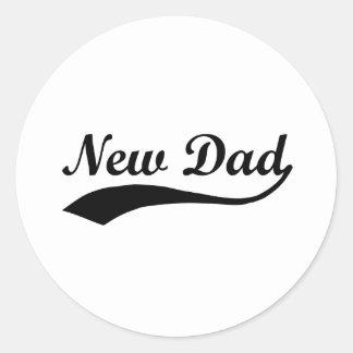 Nuevo papá pegatina redonda