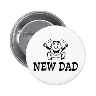 Nuevo papá pin redondo 5 cm