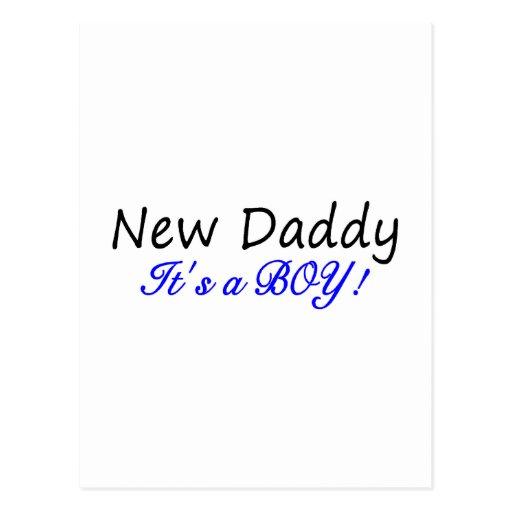 Nuevo papá su un muchacho tarjeta postal
