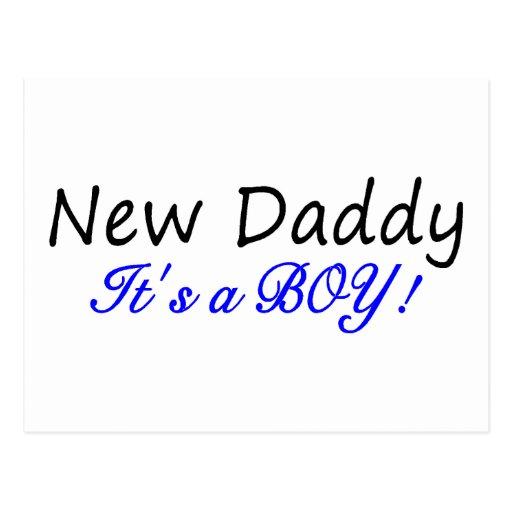 Nuevo papá su un muchacho tarjetas postales