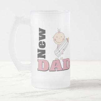 Nuevo papá taza de cristal