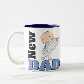 Nuevo papá taza de dos tonos