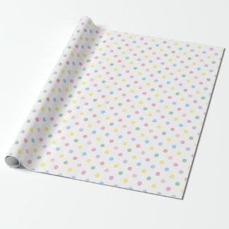 Nuevo papel de embalaje del bebé de los lunares en papel de regalo