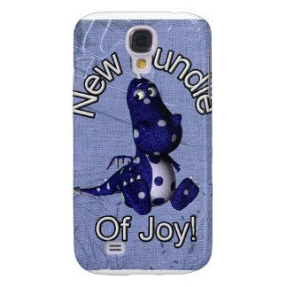 Nuevo paquete de alegría con el fondo azul del azu funda para galaxy s4