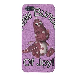 ¡Nuevo paquete de alegría! Púrpura trasera, dinosa iPhone 5 Protectores