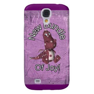 ¡Nuevo paquete de alegría! Púrpura trasera, dinosa Funda Para Galaxy S4