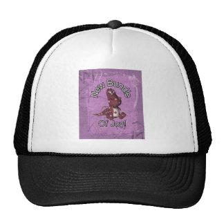 ¡Nuevo paquete de alegría! Púrpura trasera, dinosa Gorras