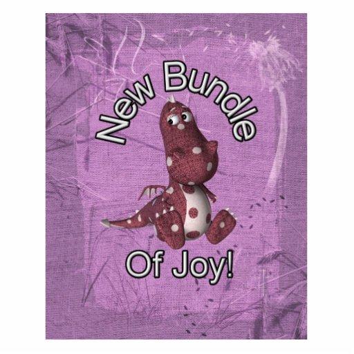 ¡Nuevo paquete de alegría! Púrpura trasera, dinosa Pin Fotoescultura