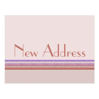 Nuevo pastel de la dirección postales