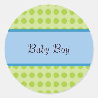 Nuevo pegatina de la invitación del bebé