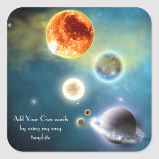 Nuevo pegatina de la Sistema Solar