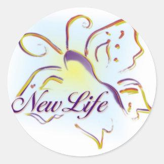 Nuevo pegatina de la vida