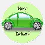 Nuevo pegatina del coche del verde del conductor