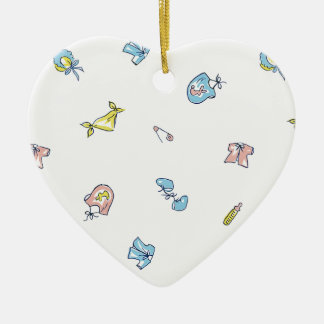Nuevo personalizable del ornamento de la adorno navideño de cerámica en forma de corazón