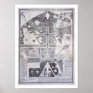 Nuevo plan de la ciudad, del castillo y de los jar póster
