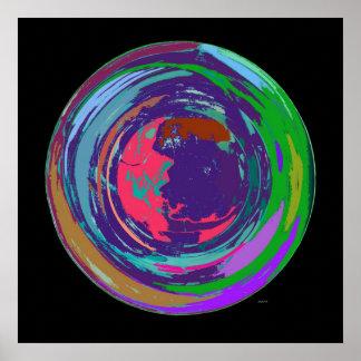 Nuevo poster del expresionismo abstracto del mundo