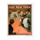 Nuevo poster gay del teatro del caballero de tarjeta postal