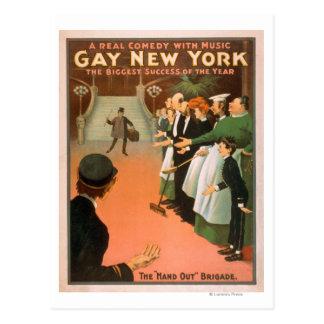 Nuevo poster gay del teatro del caballero de postal