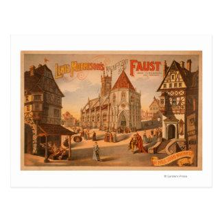 Nuevo poster magnífico de Fausto Nuremberg Tarjetas Postales