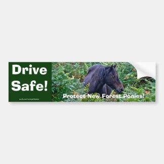 Nuevo potro negro raro del bosque - caballo pegatina para auto