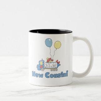 Nuevo primo es un muchacho tazas de café