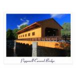 Nuevo puente cubierto de Pepperell mA Tarjetas Postales