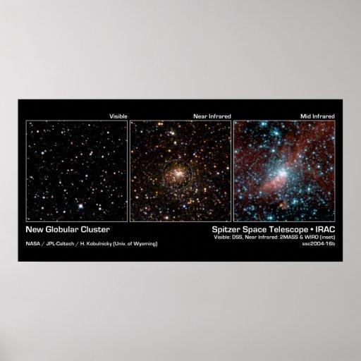 Nuevo racimo globular - telescopio espacial de Spi Posters