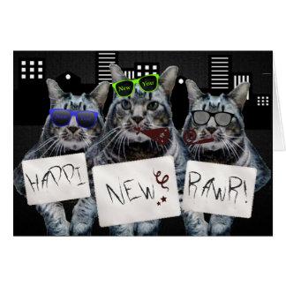 Nuevo Rawr trío del gatito de Happi Tarjeta De Felicitación