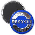 Nuevo recicle el logotipo imán de frigorifico