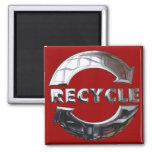 Nuevo recicle el logotipo imán de nevera